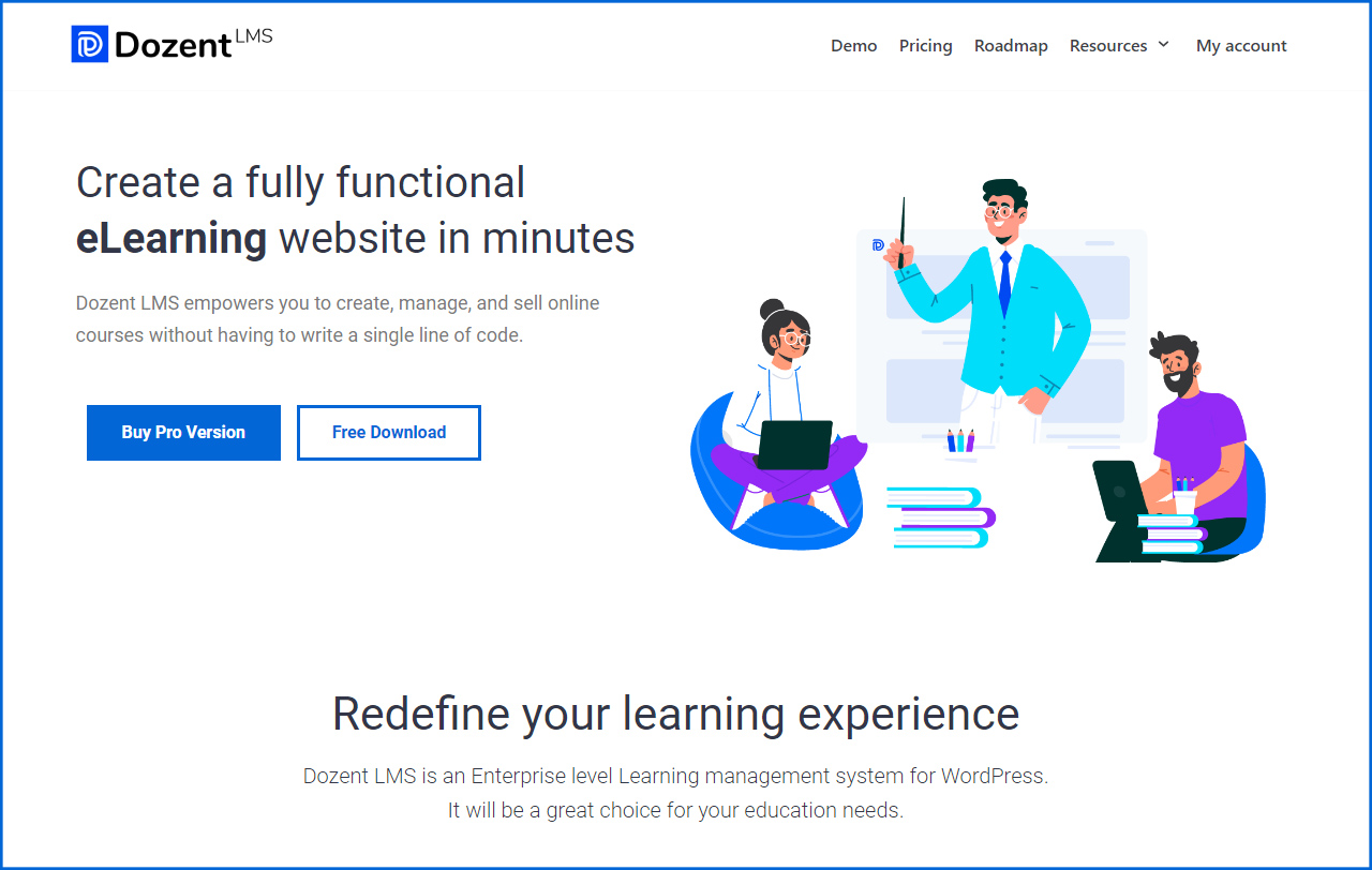 Dozent LMS Review, Ollzo.com, Learning Management System WordPress