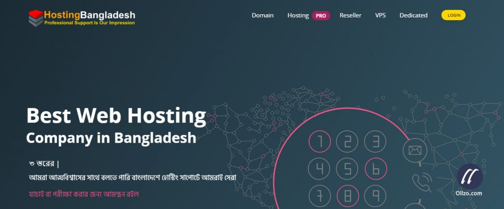 WordPress Hosting Bangladesh - ollzo.com
