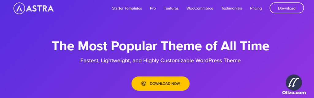 Astra theme, Best WordPress eCommerce Theme, ollzo