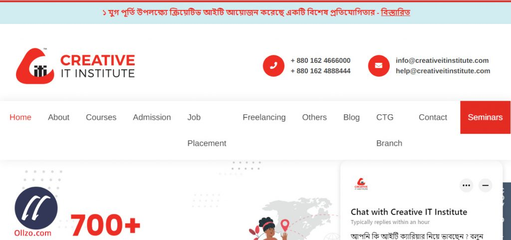 Creative IT, WordPress Learning Bangladesh, Ollzo.com