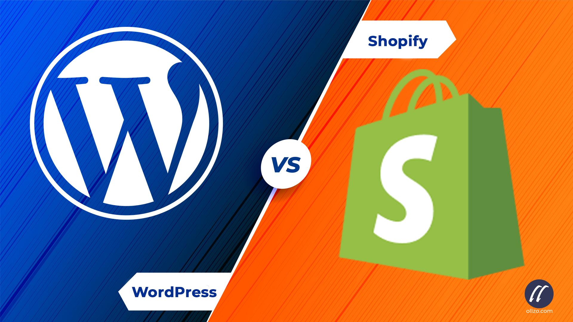 WordPress eCommerce vs Shopify, ollzo