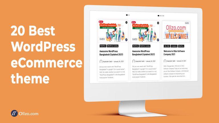 20 Best WordPress eCommerce theme (Updated)
