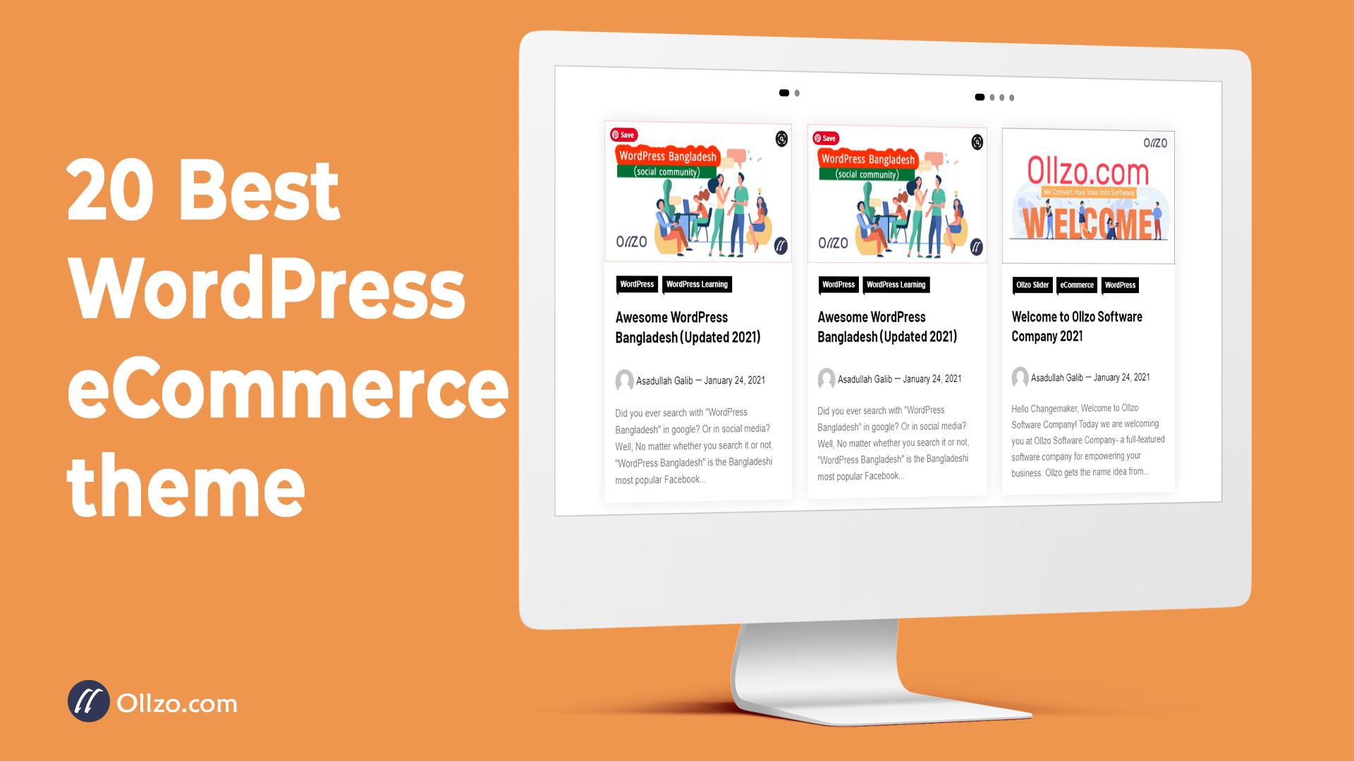 Best WordPress eCommerce theme, ollzo