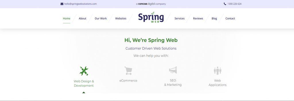Spring Web Solutions, Australian Best WordPress Company, Ollzo