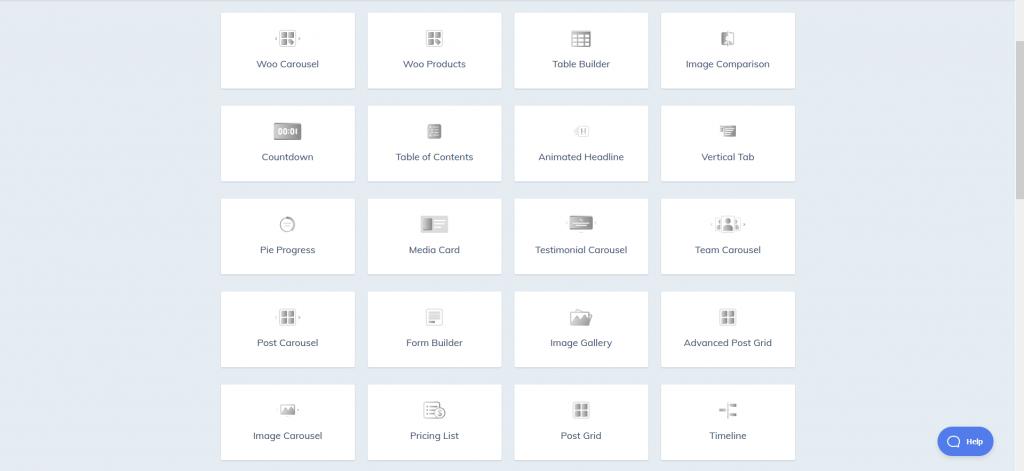 Qubely Blocks List (part), Qubely Gutenberg Block Editor Plugin, ollzo