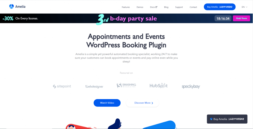 Amelia - Appointments and Events WordPress Booking Plugin, ollzo