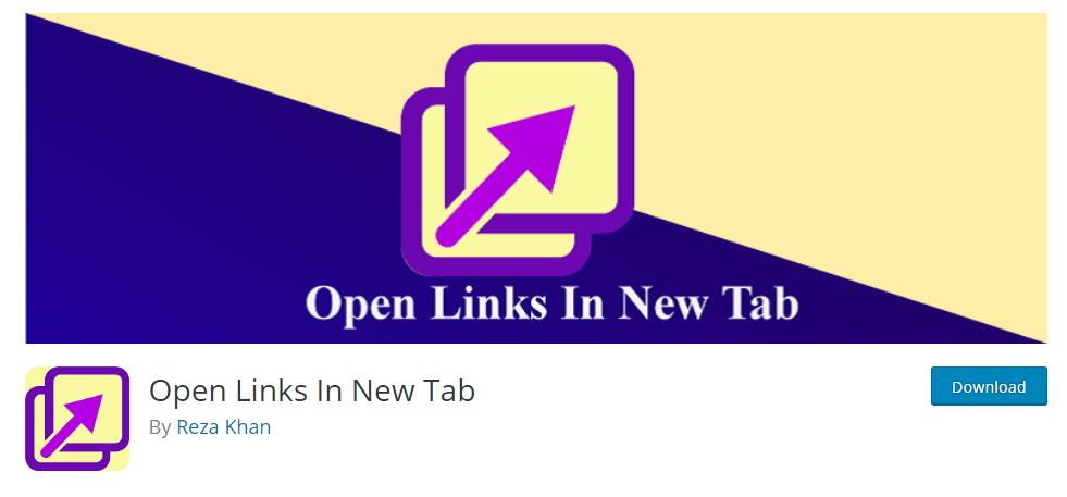open link in new tab WordPress plugin, ollzo