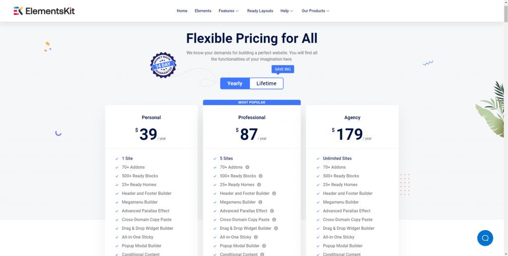 ElementsKit pricing page, ElementsKit Review, best Elementor addon, ollzo
